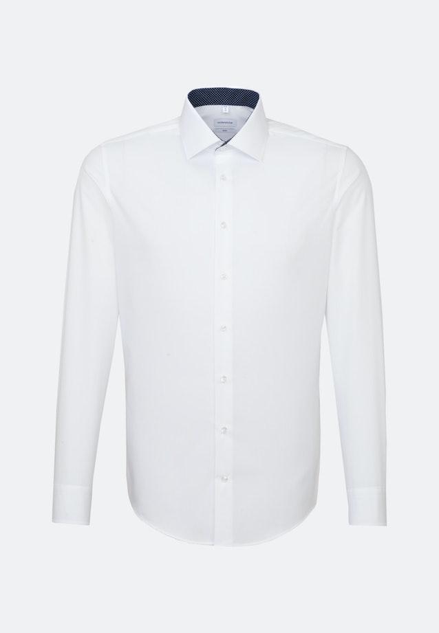 Non-iron Fil a fil Business Shirt in Slim with Kent-Collar in White    Seidensticker Onlineshop