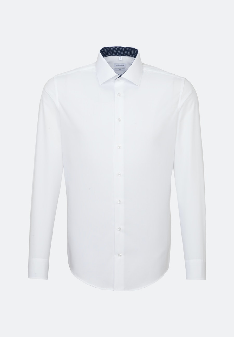 Non-iron Fil a fil Business Shirt in Slim with Kent-Collar in White |  Seidensticker Onlineshop