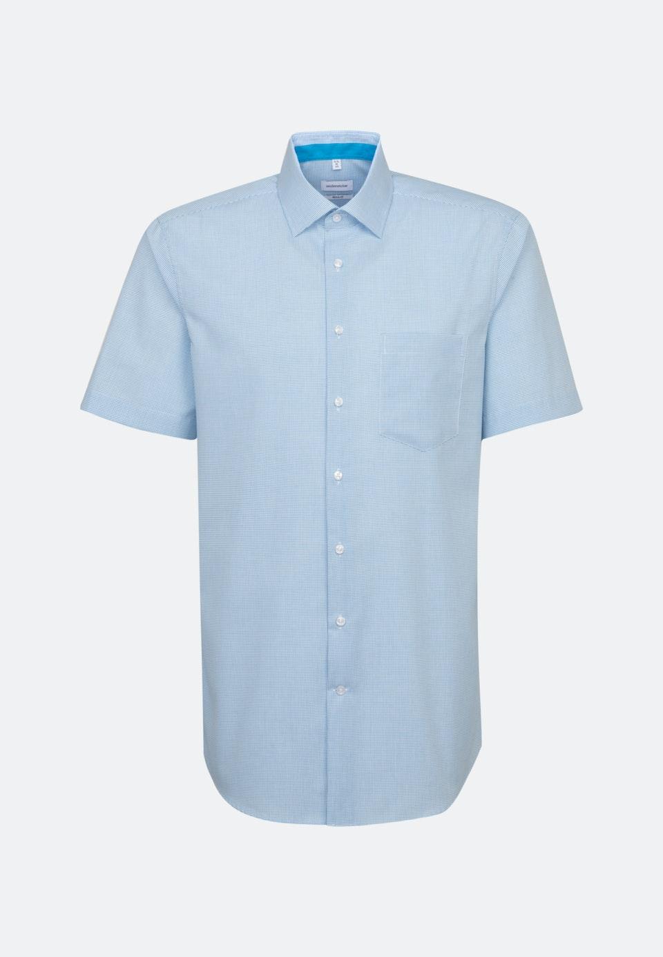 Bügelfreies Popeline Kurzarm Business Hemd in Regular mit Kentkragen in Türkis/Petrol    Seidensticker Onlineshop
