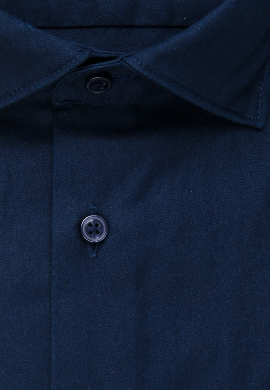 Non-iron Twill Business Shirt in Regular with Kent-Collar in Dunkelblau    Seidensticker Onlineshop