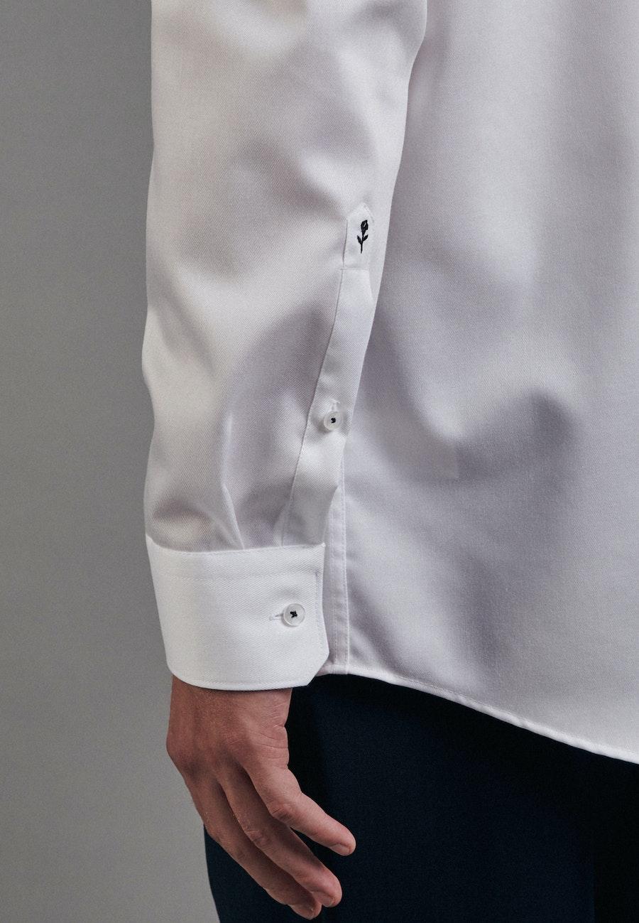 Bügelfreies Twill Business Hemd in Regular mit Kentkragen in Weiß |  Seidensticker Onlineshop