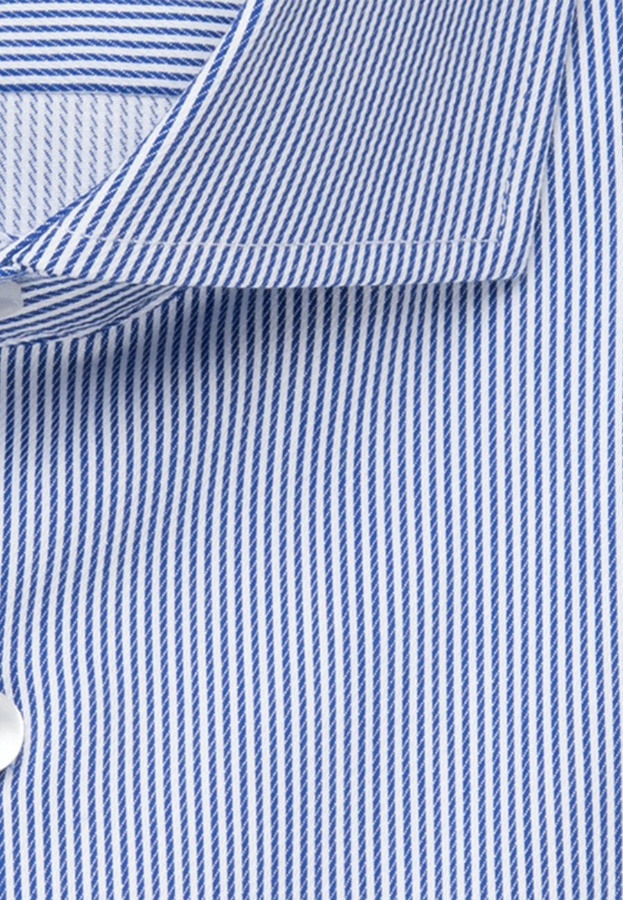 Bügelleichtes Twill Kurzarm Business Hemd in Regular mit Kentkragen in Mittelblau |  Seidensticker Onlineshop