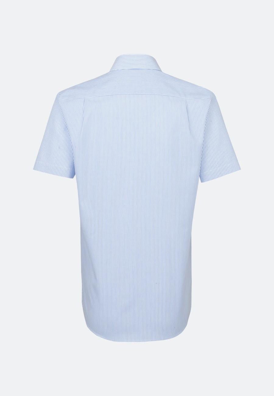 Non-iron Poplin Short sleeve Business Shirt in Regular with Kent-Collar in Light blue    Seidensticker Onlineshop