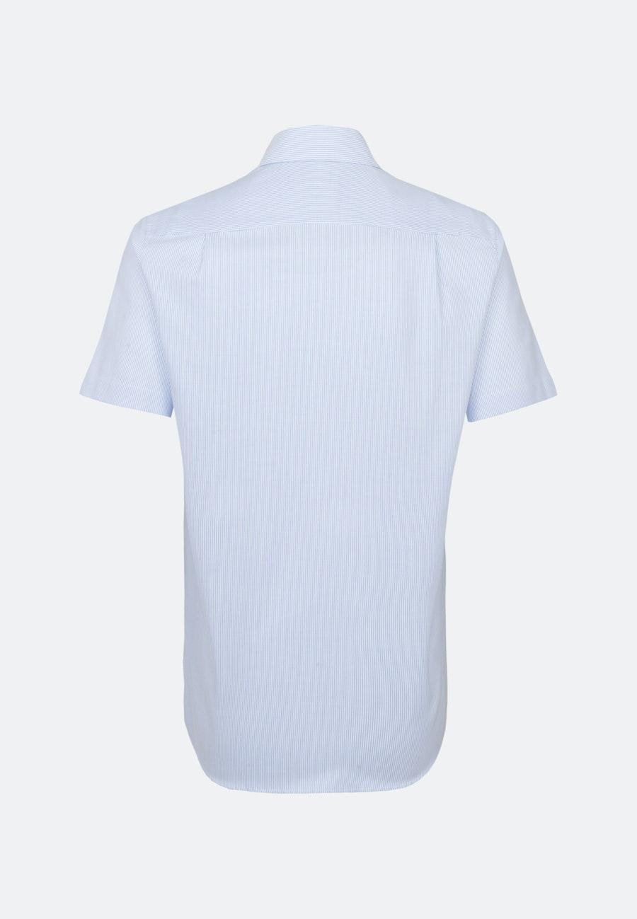 Bügelfreies Oxford Kurzarm Business Hemd in Regular mit Kentkragen in Hellblau    Seidensticker Onlineshop