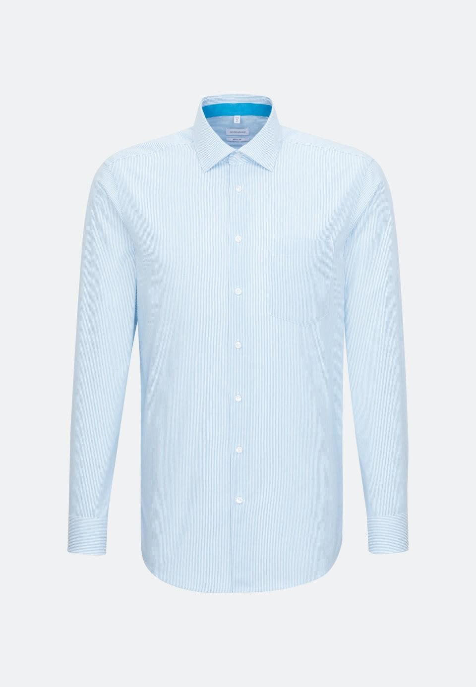 Non-iron Poplin Business Shirt in Regular with Kent-Collar in Turquoise    Seidensticker Onlineshop