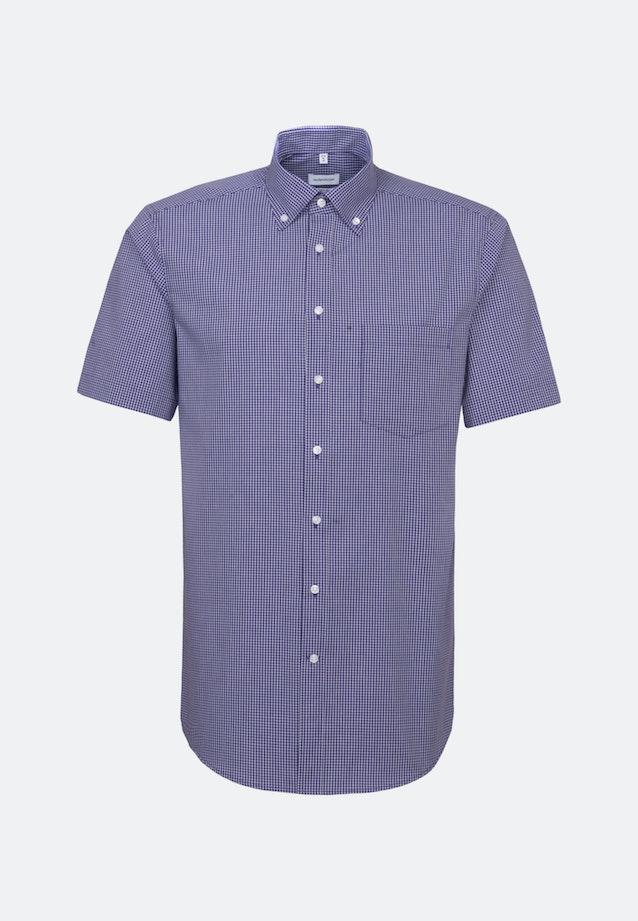 Non-iron Popeline Short sleeve Business Shirt in Regular with Button-Down-Collar in Purple |  Seidensticker Onlineshop