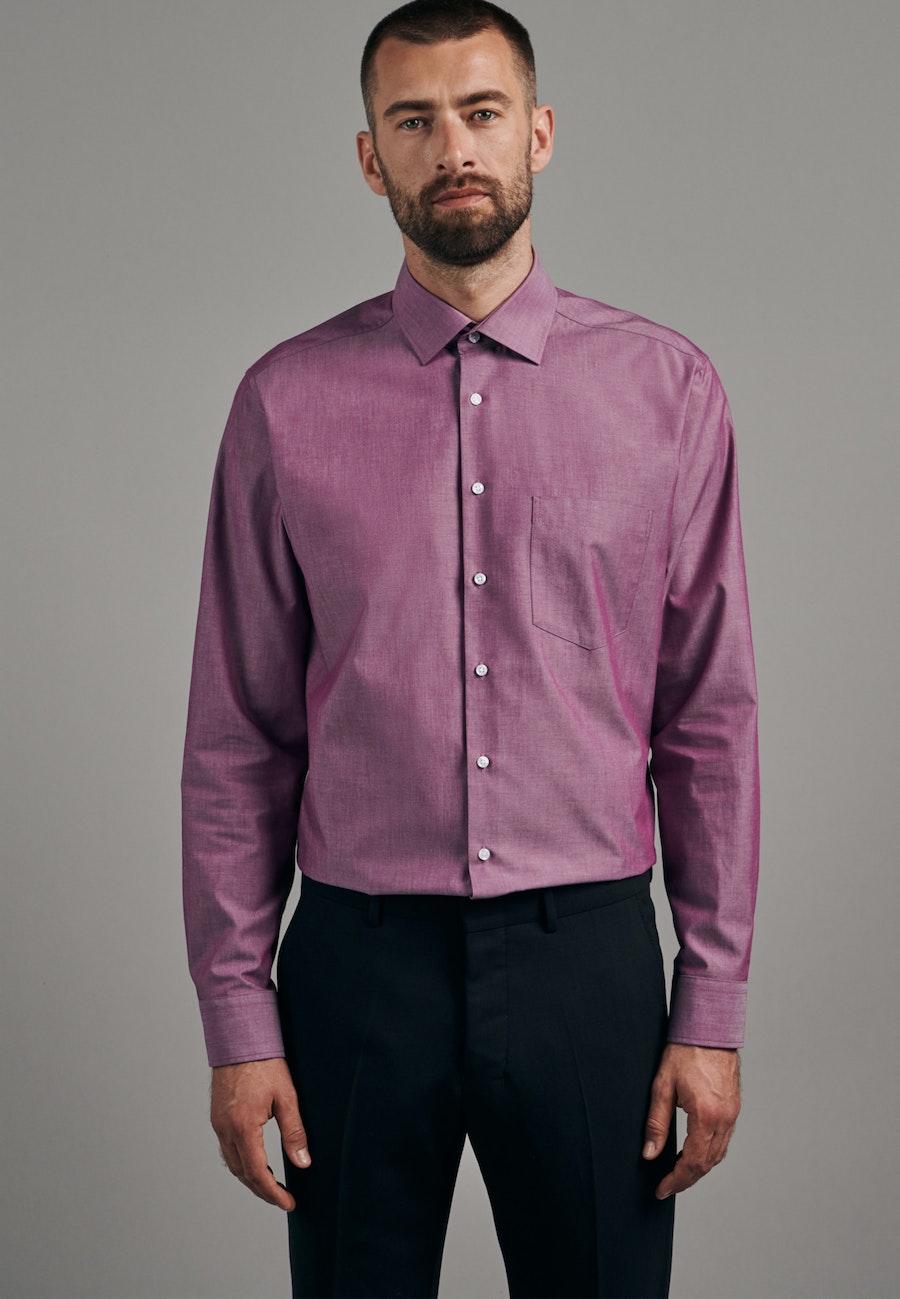Bügelfreies Chambray Business Hemd in Regular mit Kentkragen in Rosa/Pink    Seidensticker Onlineshop