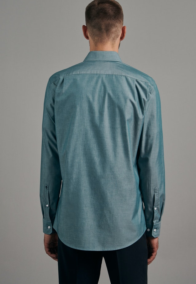 Non-iron Chambray Business Shirt in Regular with Kent-Collar in Green |  Seidensticker Onlineshop
