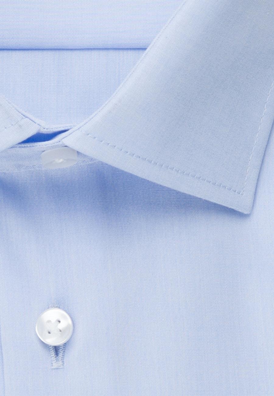 Non-iron Chambray Business Shirt in Regular with Kent-Collar in Light blue    Seidensticker Onlineshop
