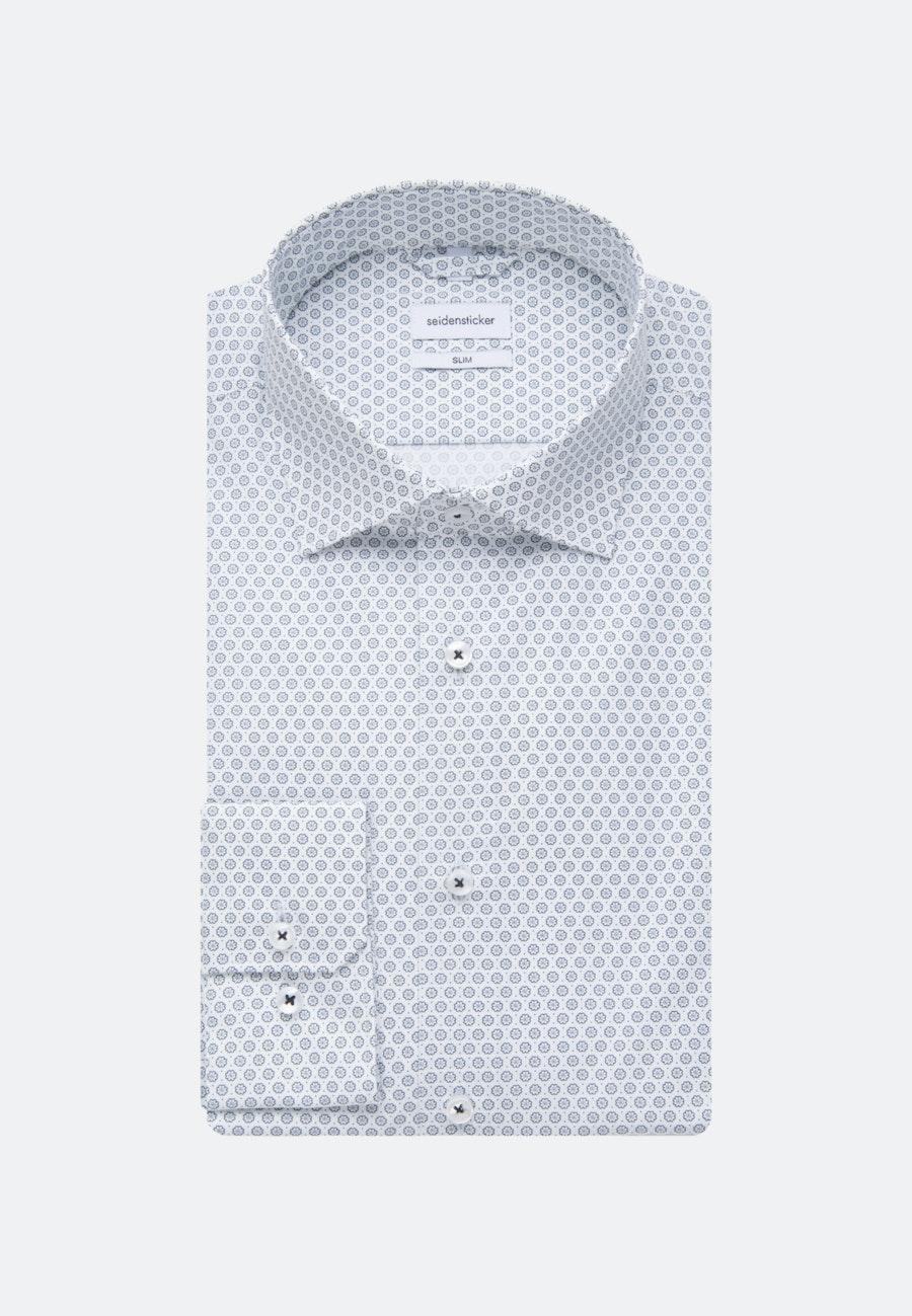 Bügelleichtes Popeline Business Hemd in Slim mit Kentkragen in Hellblau    Seidensticker Onlineshop