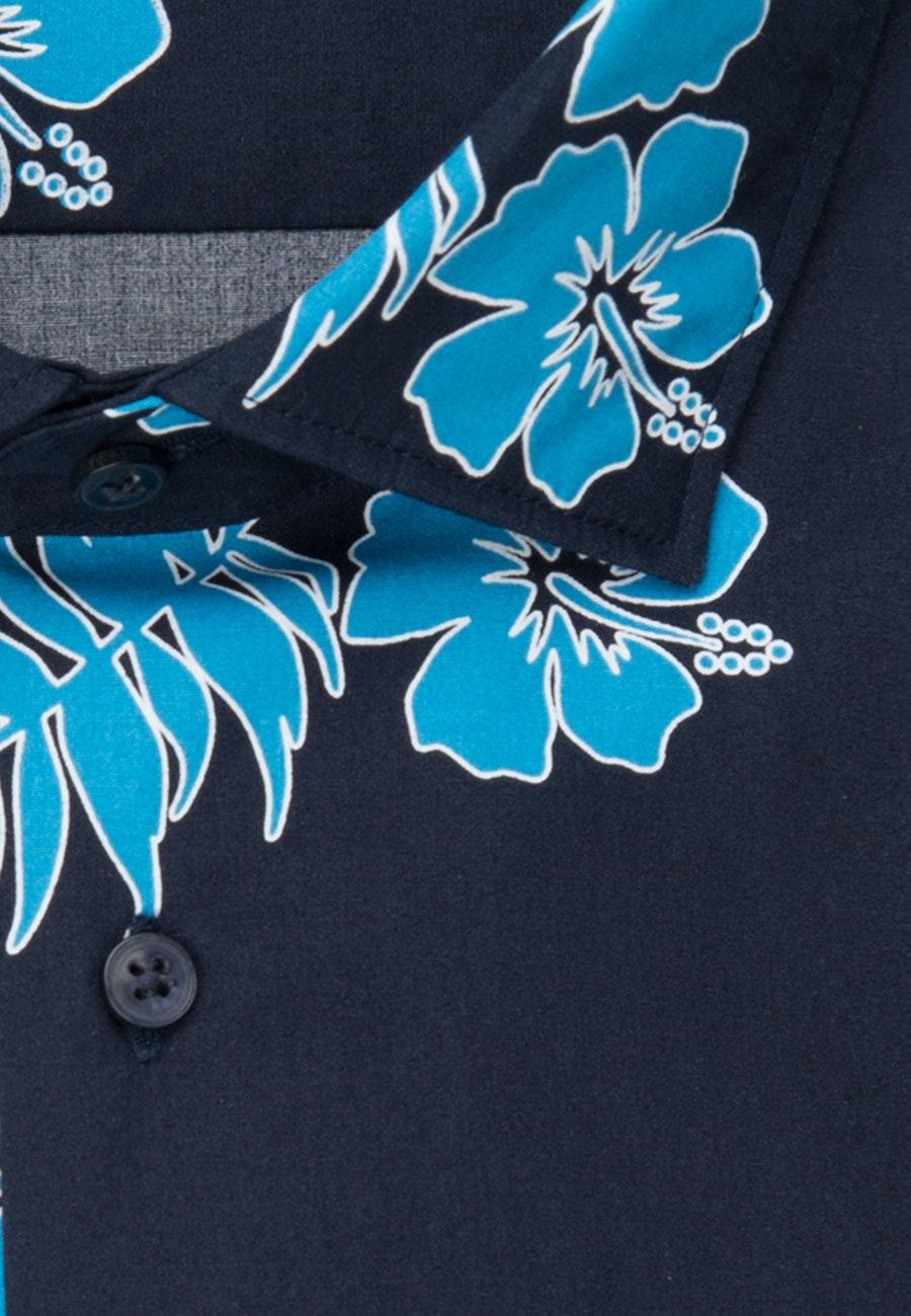 Easy-iron Popeline Short sleeve Business Shirt in Regular with Kent-Collar in Turquoise    Seidensticker Onlineshop