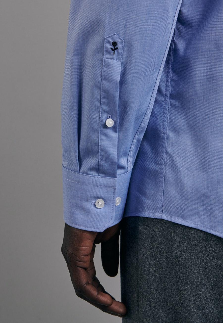 Non-iron Fil a fil Business Shirt in Regular with Kent-Collar in Light blue |  Seidensticker Onlineshop
