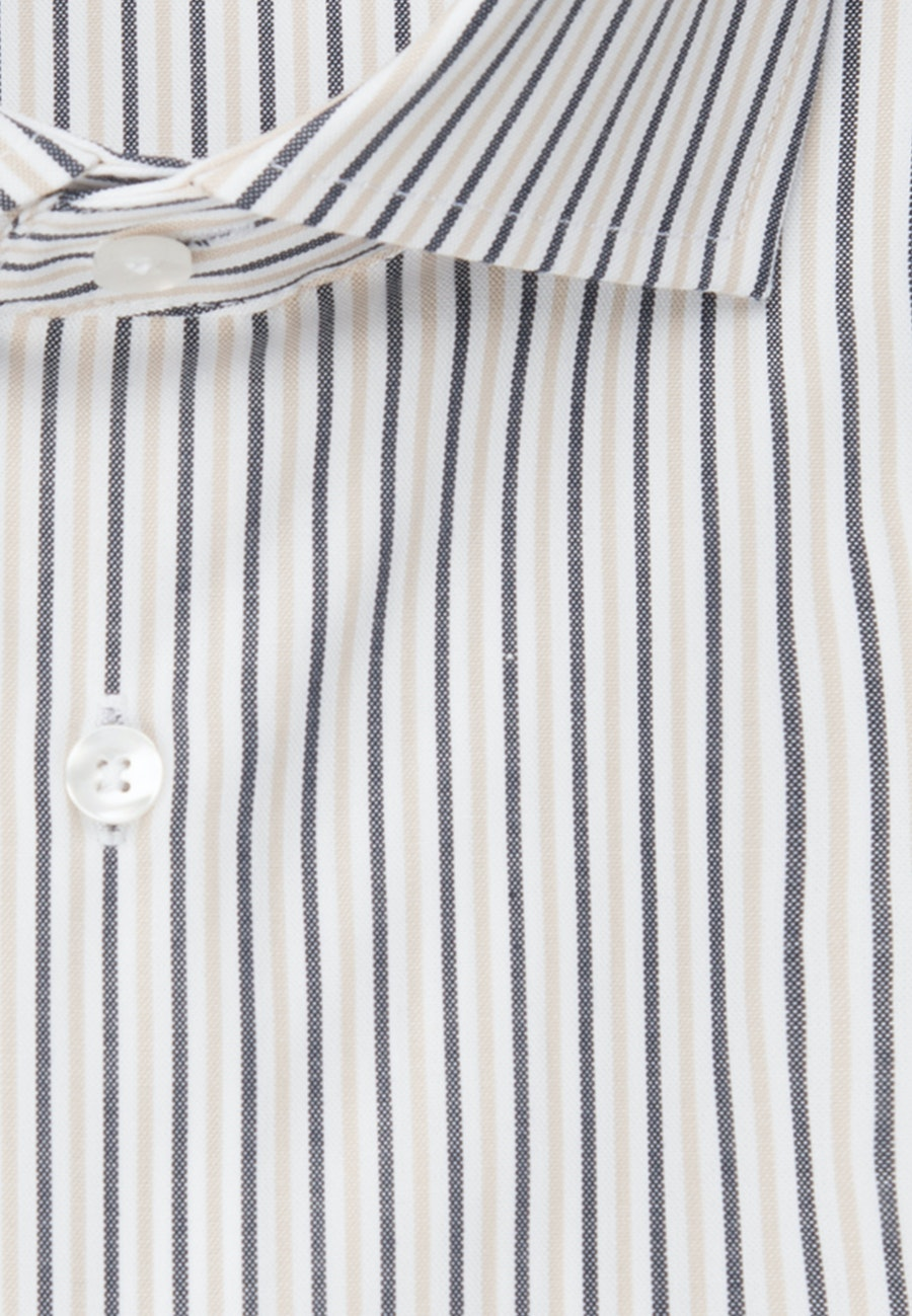 Easy-iron Oxford Business Shirt in Shaped with Kent-Collar in Brown |  Seidensticker Onlineshop