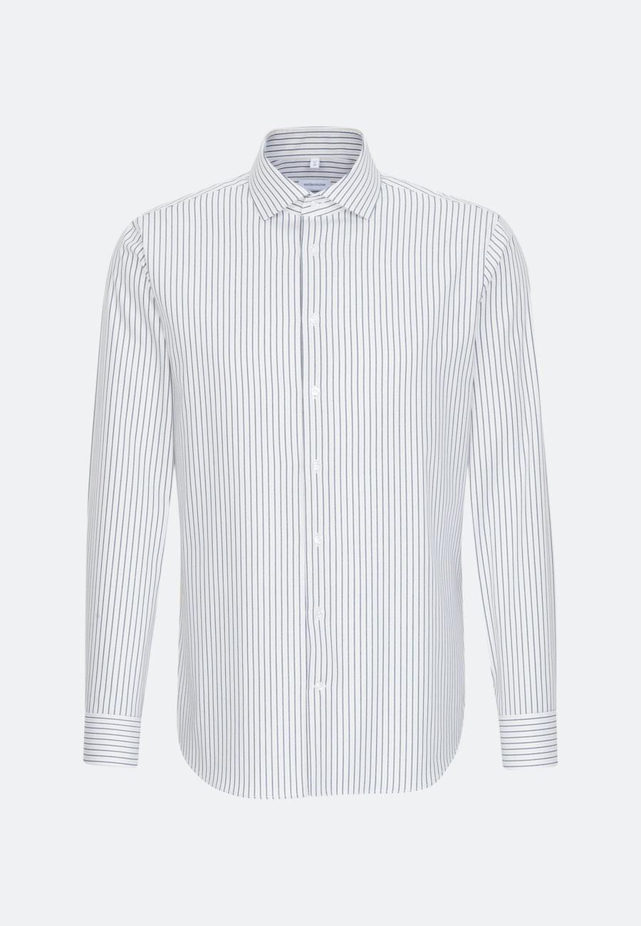 Bügelleichtes Oxford Business Hemd in Shaped mit Kentkragen in Braun    Seidensticker Onlineshop