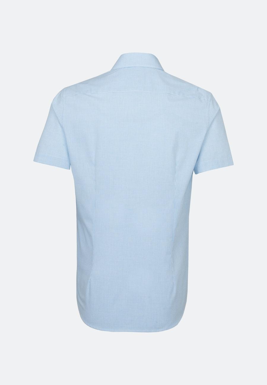 Bügelfreies Popeline Kurzarm Business Hemd in Shaped mit Kentkragen in Türkis/Petrol |  Seidensticker Onlineshop
