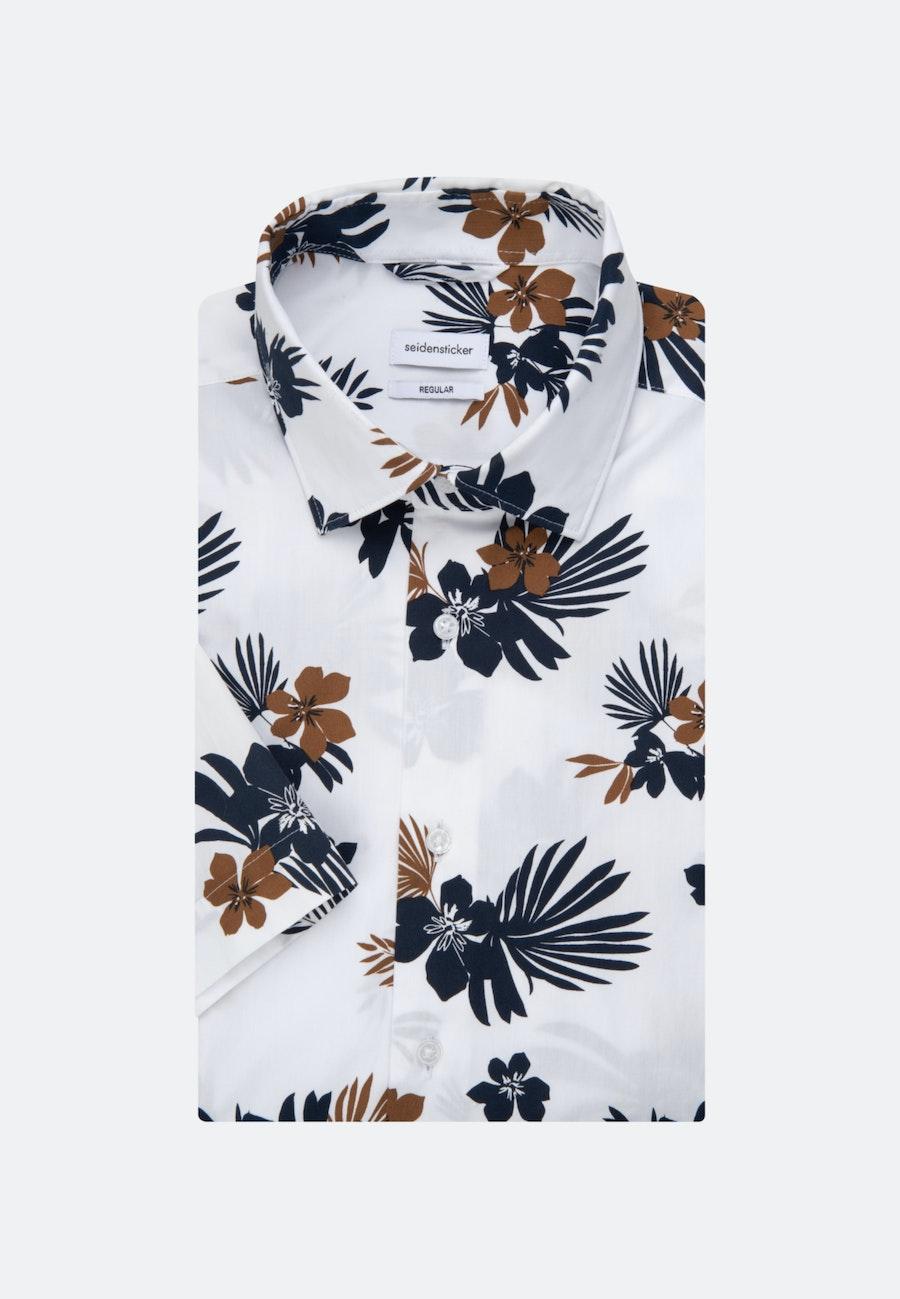 Popeline Kurzarm Business Hemd in Regular mit Kentkragen in Weiß |  Seidensticker Onlineshop