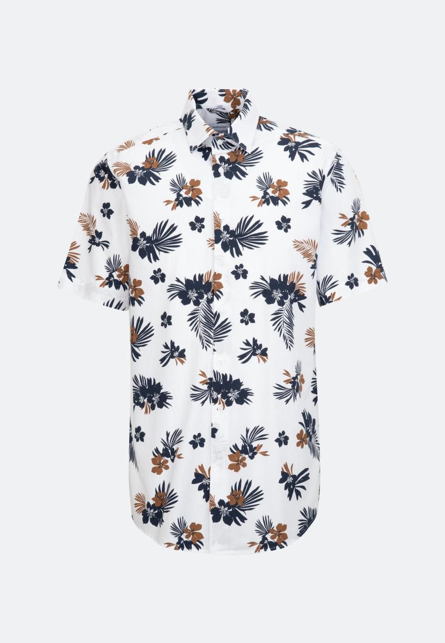 Easy-iron Popeline Short sleeve Business Shirt in Regular with Kent-Collar in White |  Seidensticker Onlineshop