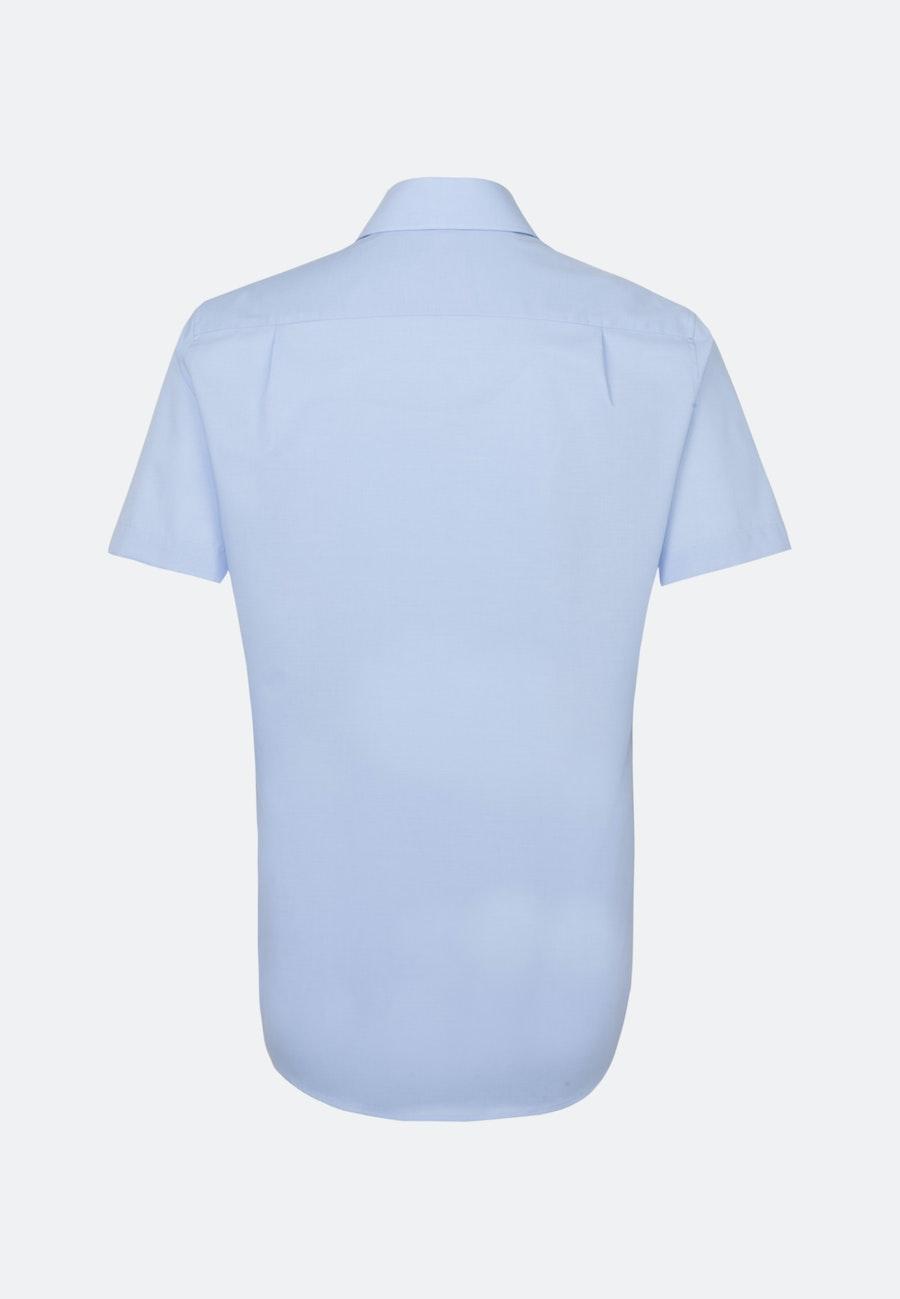 Non-iron Fil a fil Short sleeve Business Shirt in Regular with Kent-Collar in Light blue    Seidensticker Onlineshop