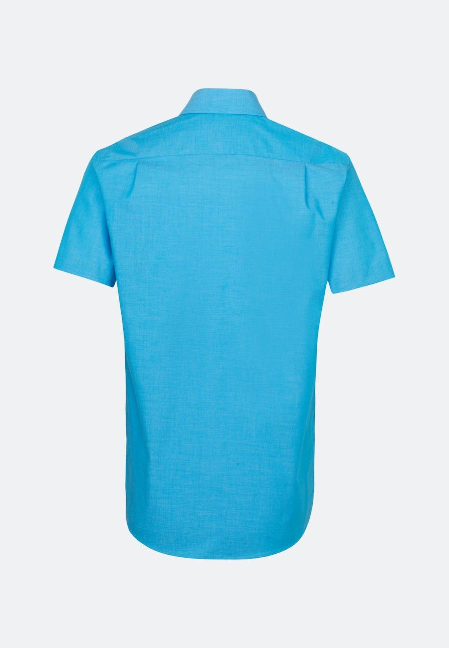 Bügelfreies Fil a fil Kurzarm Business Hemd in Regular mit Kentkragen in Türkis/Petrol    Seidensticker Onlineshop