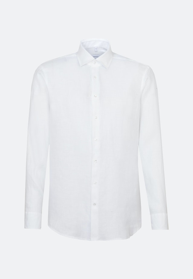 Easy-iron Twill Business Shirt in Regular with Kent-Collar in White |  Seidensticker Onlineshop