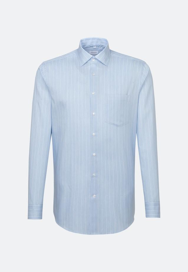 Bügelleichtes Twill Business Hemd in Regular mit Kentkragen in Hellblau    Seidensticker Onlineshop