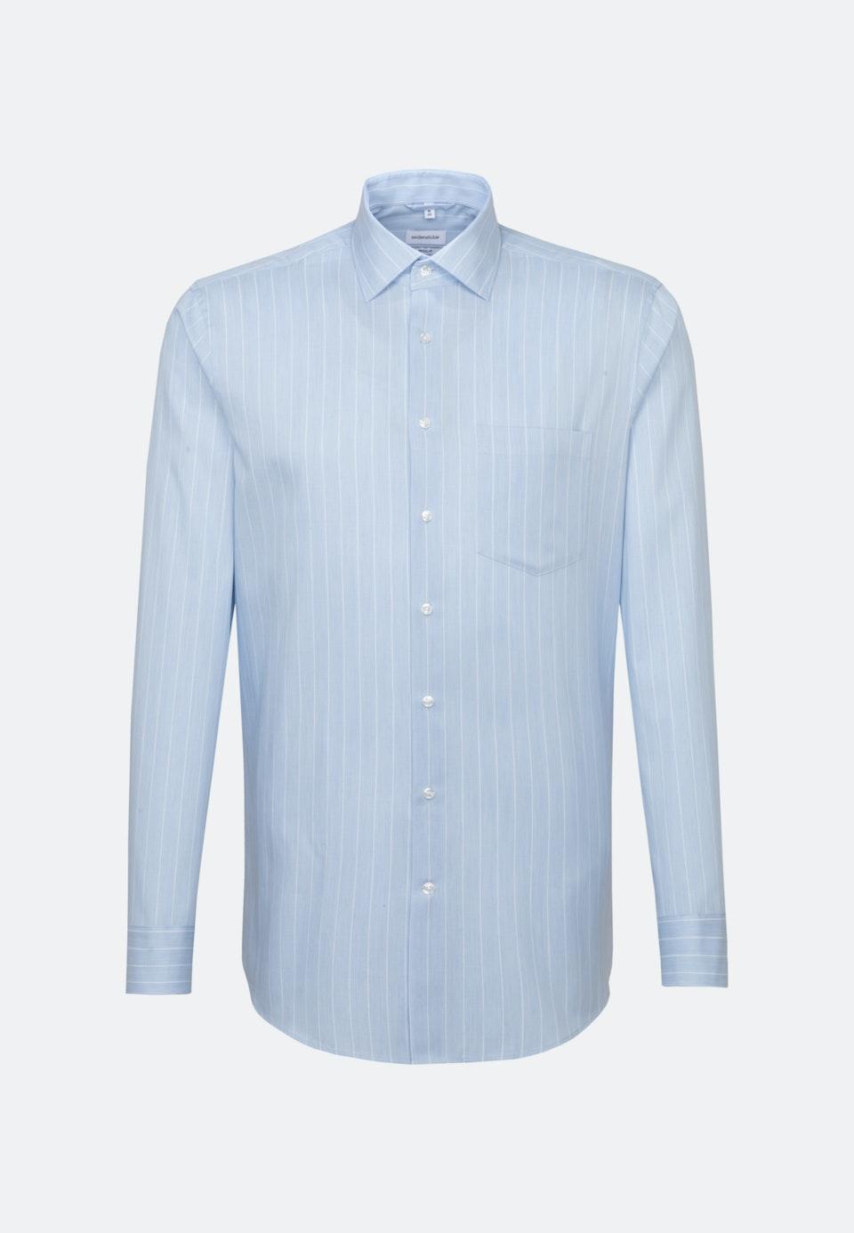 Easy-iron Twill Business Shirt in Regular with Kent-Collar in Light blue    Seidensticker Onlineshop