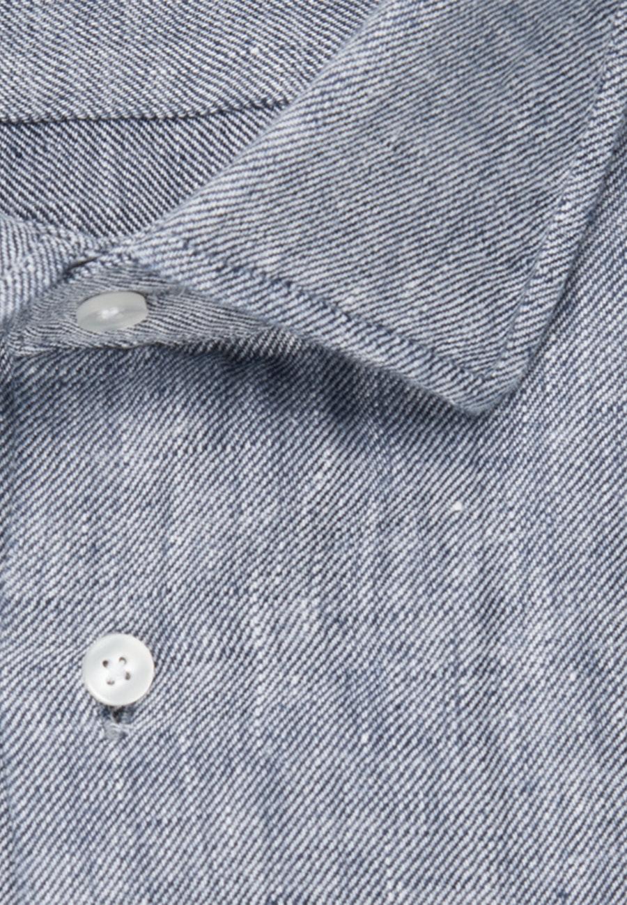 Bügelleichtes Twill Business Hemd in Shaped mit Kentkragen in Dunkelblau |  Seidensticker Onlineshop