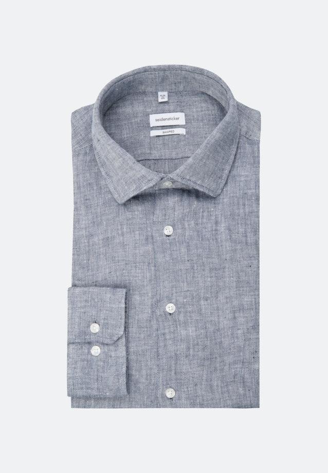 Twill Business Hemd in Shaped mit Kentkragen in Dunkelblau    Seidensticker Onlineshop