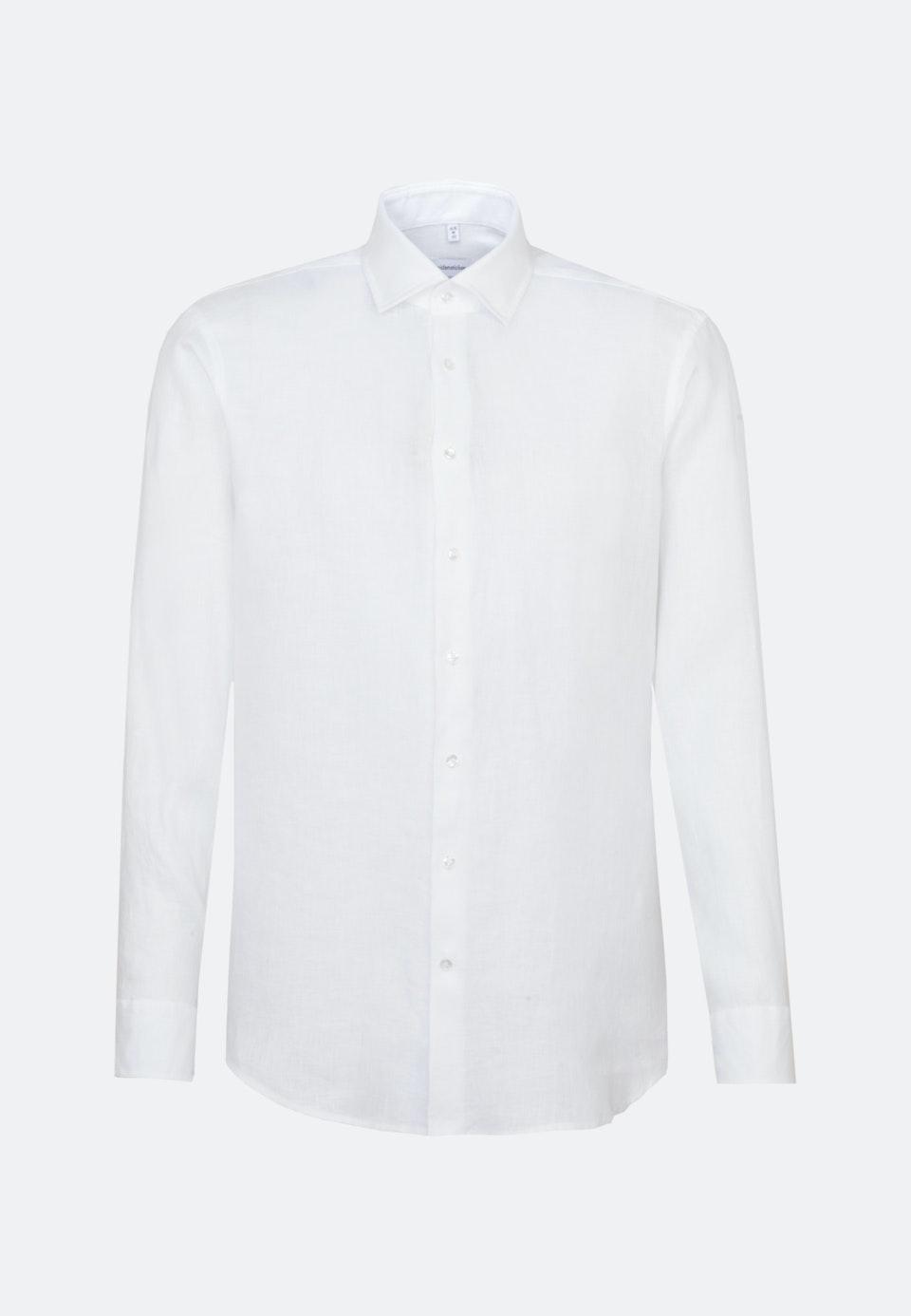 Bügelleichtes Twill Business Hemd in Shaped mit Kentkragen in Weiß    Seidensticker Onlineshop
