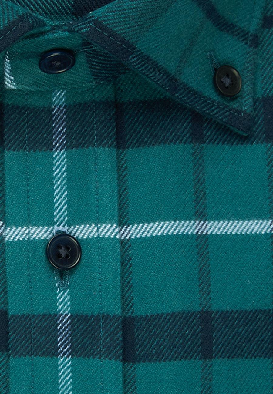 Flanell Business Shirt in Slim with Button-Down-Collar in Green |  Seidensticker Onlineshop