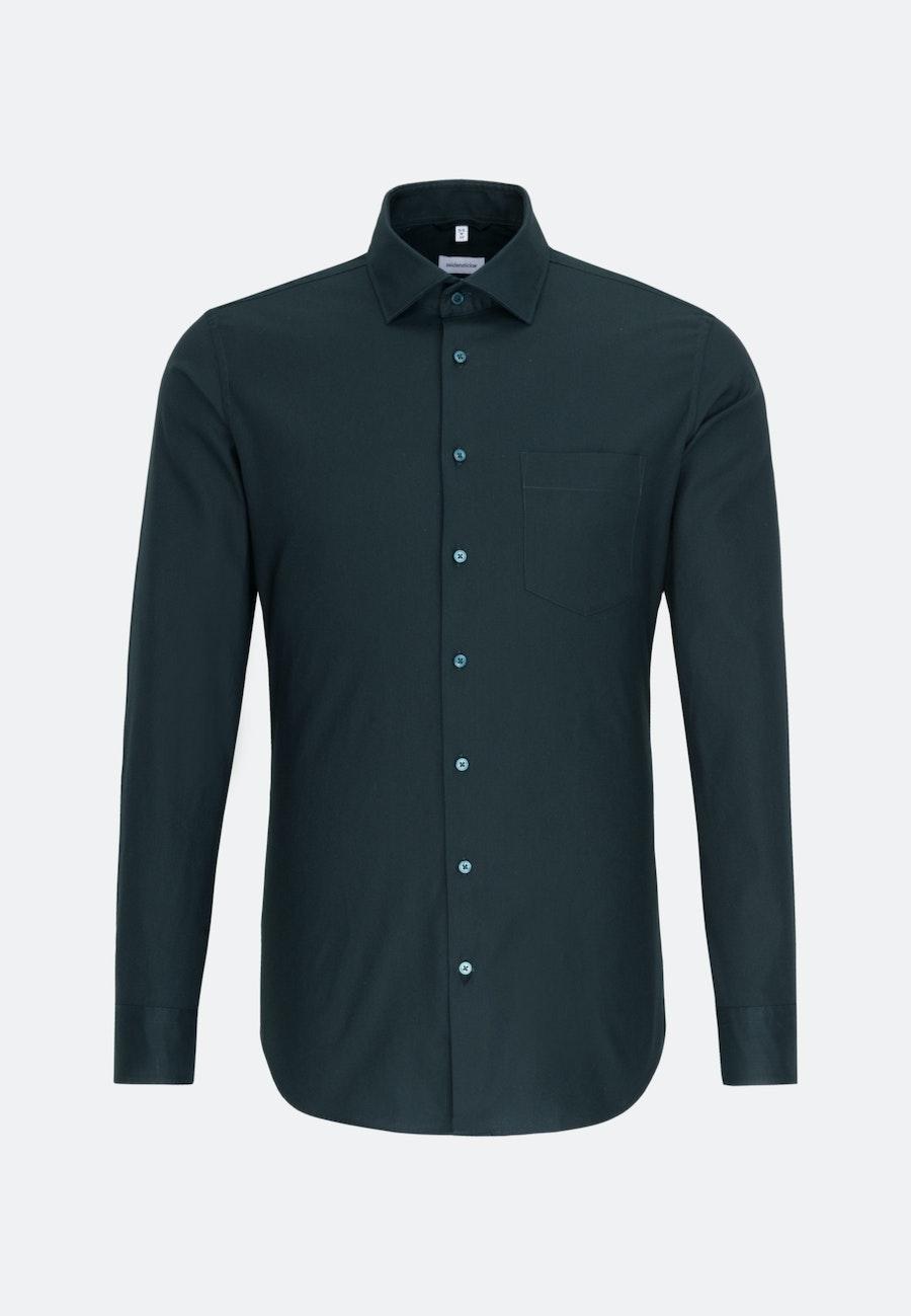 Twill Business Shirt in X-Slim with Kent-Collar in Green |  Seidensticker Onlineshop