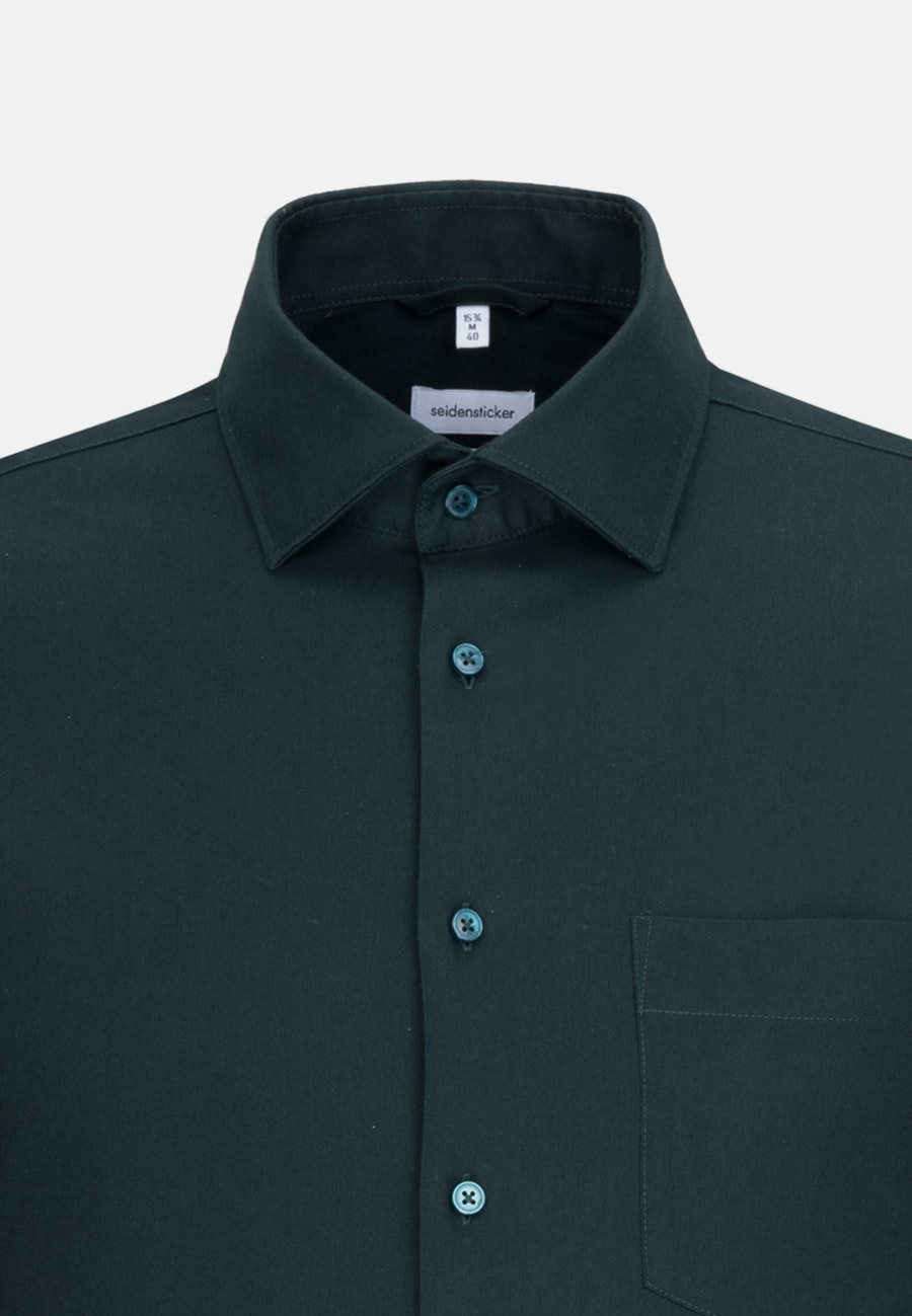 Twill Business Shirt in X-Slim with Kent-Collar in Green |  Seidensticker Onlineshop