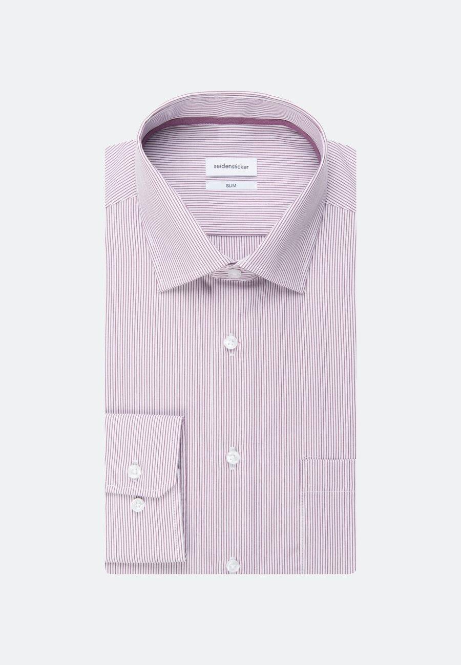 Non-iron Popeline Business Shirt in Slim with Kent-Collar in Pink |  Seidensticker Onlineshop