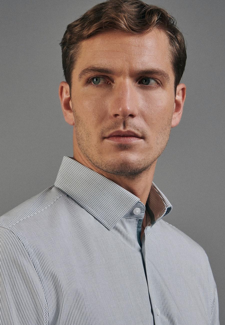 Non-iron Popeline Business Shirt in Slim with Kent-Collar in Green |  Seidensticker Onlineshop