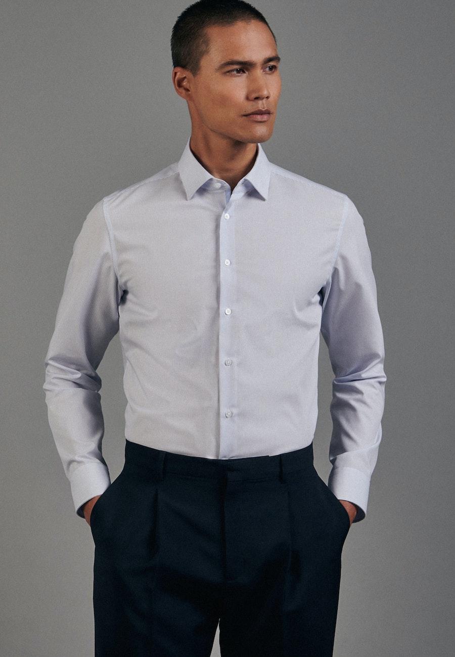 Non-iron Popeline Business Shirt in Slim with Kent-Collar in Light blue    Seidensticker Onlineshop
