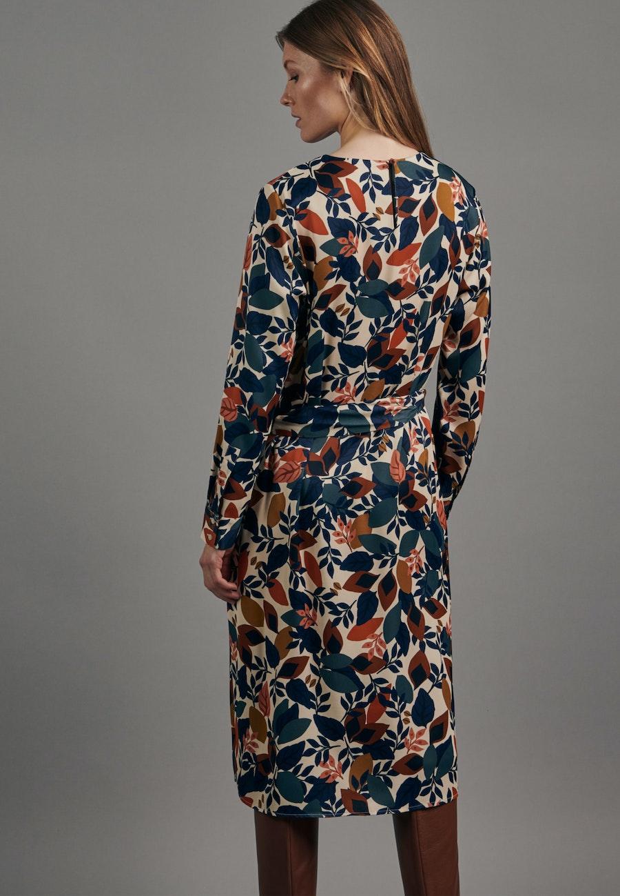 Satin Midi Dress made of 100% Viscose in Ecru    Seidensticker Onlineshop