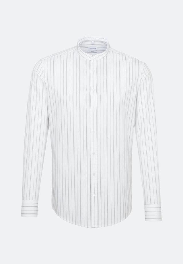Twill Business Hemd in Regular mit Stehkragen in Weiß    Seidensticker Onlineshop