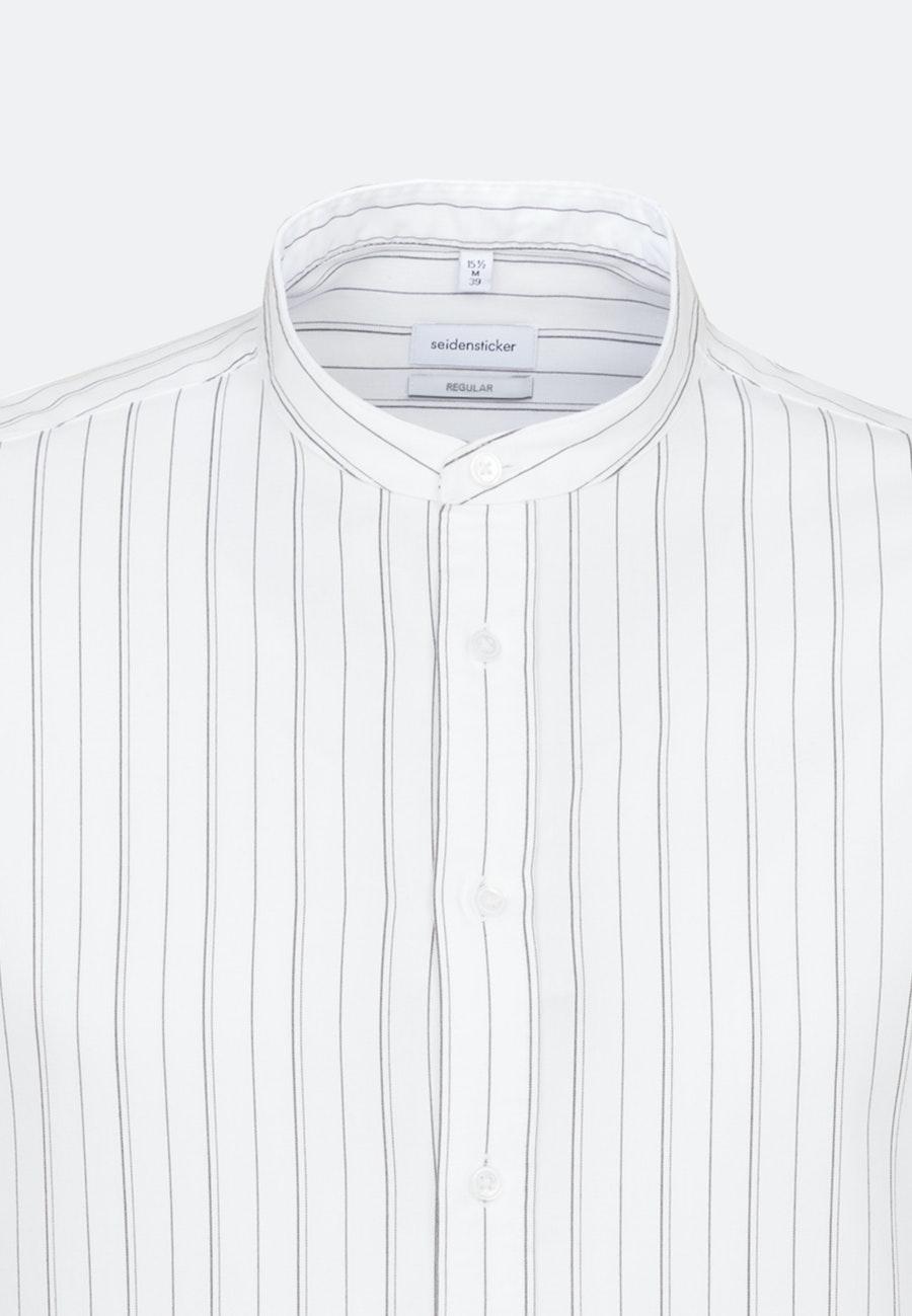 Twill Business Shirt in Regular with Stand-Up Collar in White |  Seidensticker Onlineshop