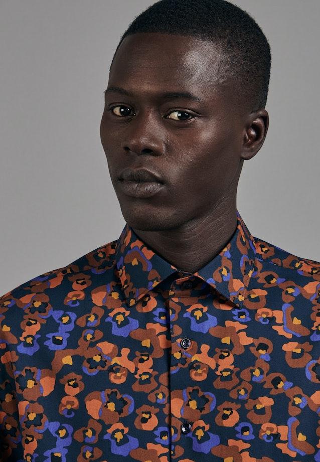 Easy-iron Poplin Business Shirt in Slim with Kent-Collar in Orange |  Seidensticker Onlineshop