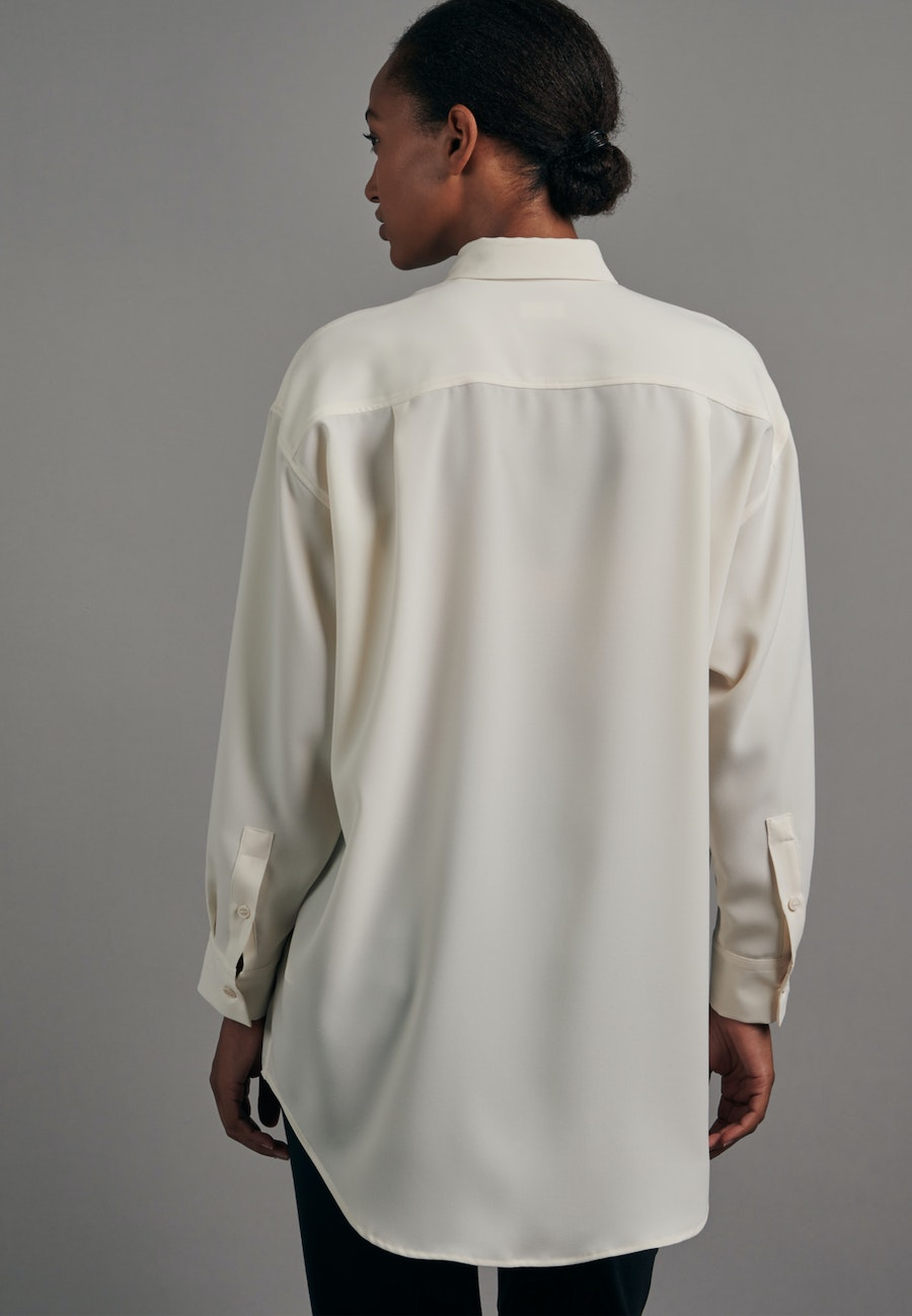 Krepp Long Blouse made of 100% Polyester in Ecru |  Seidensticker Onlineshop