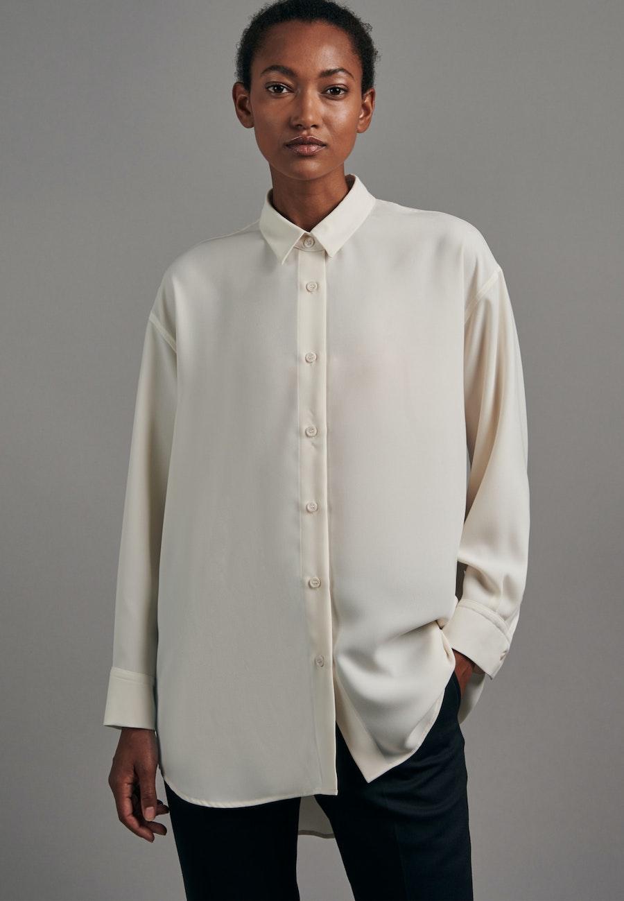 Krepp Longbluse aus 100% Polyester in Ecru |  Seidensticker Onlineshop