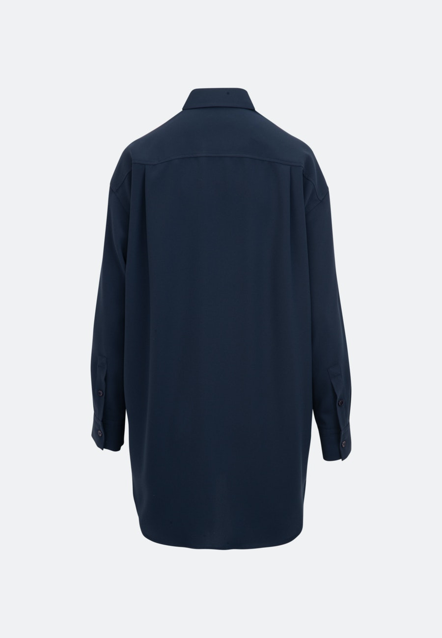 Crepe Long Blouse made of 100% Polyester in Dark blue |  Seidensticker Onlineshop