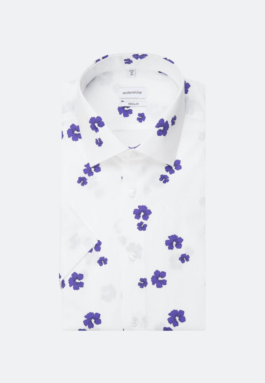 Popeline Kurzarm Business Hemd in Regular mit Kentkragen in Lila    Seidensticker Onlineshop