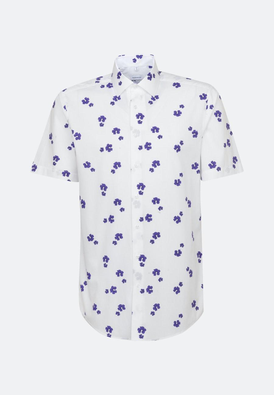 Easy-iron Popeline Short sleeve Business Shirt in Regular with Kent-Collar in Purple |  Seidensticker Onlineshop