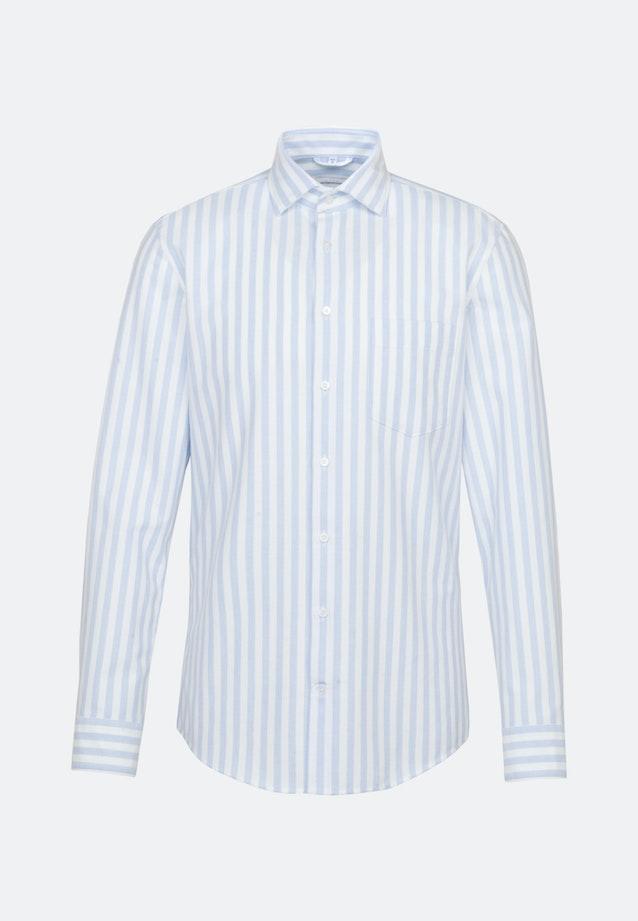 Oxford Business Shirt in Slim with Kent-Collar in Light blue    Seidensticker Onlineshop