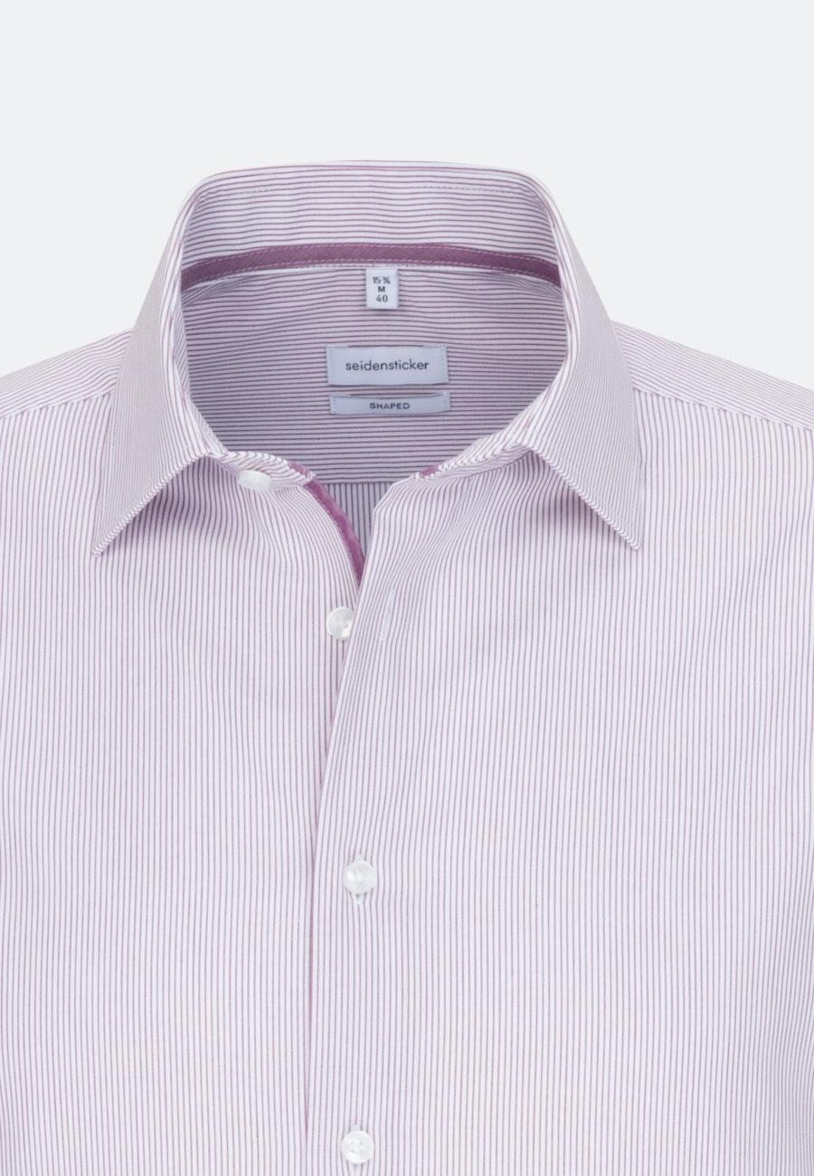 Non-iron Poplin Business Shirt in Shaped with Kent-Collar in Pink |  Seidensticker Onlineshop