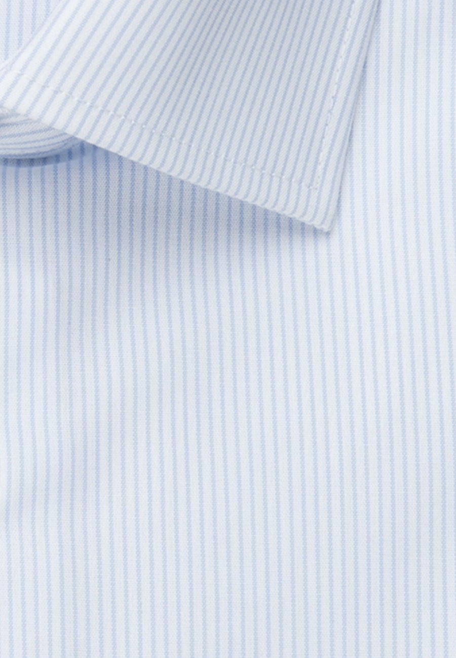 Non-iron Poplin Business Shirt in Shaped with Kent-Collar in Light blue |  Seidensticker Onlineshop