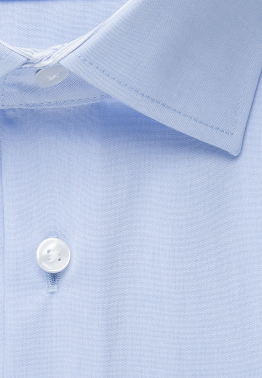Non-iron Chambray Business Shirt in X-Slim with Kent-Collar in Light blue    Seidensticker Onlineshop