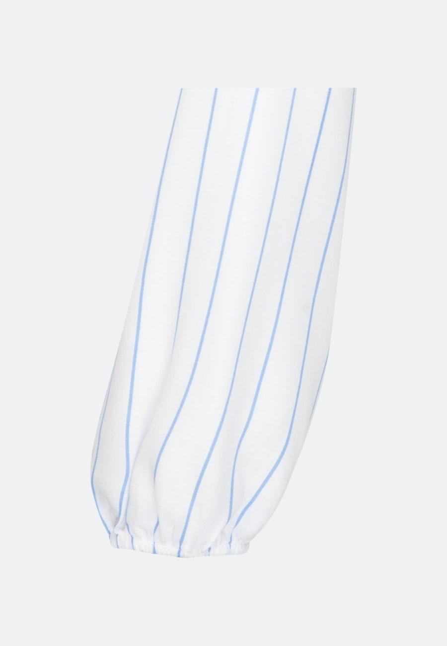 Krepp Wickelbluse aus 100% Viskose in Hellblau |  Seidensticker Onlineshop