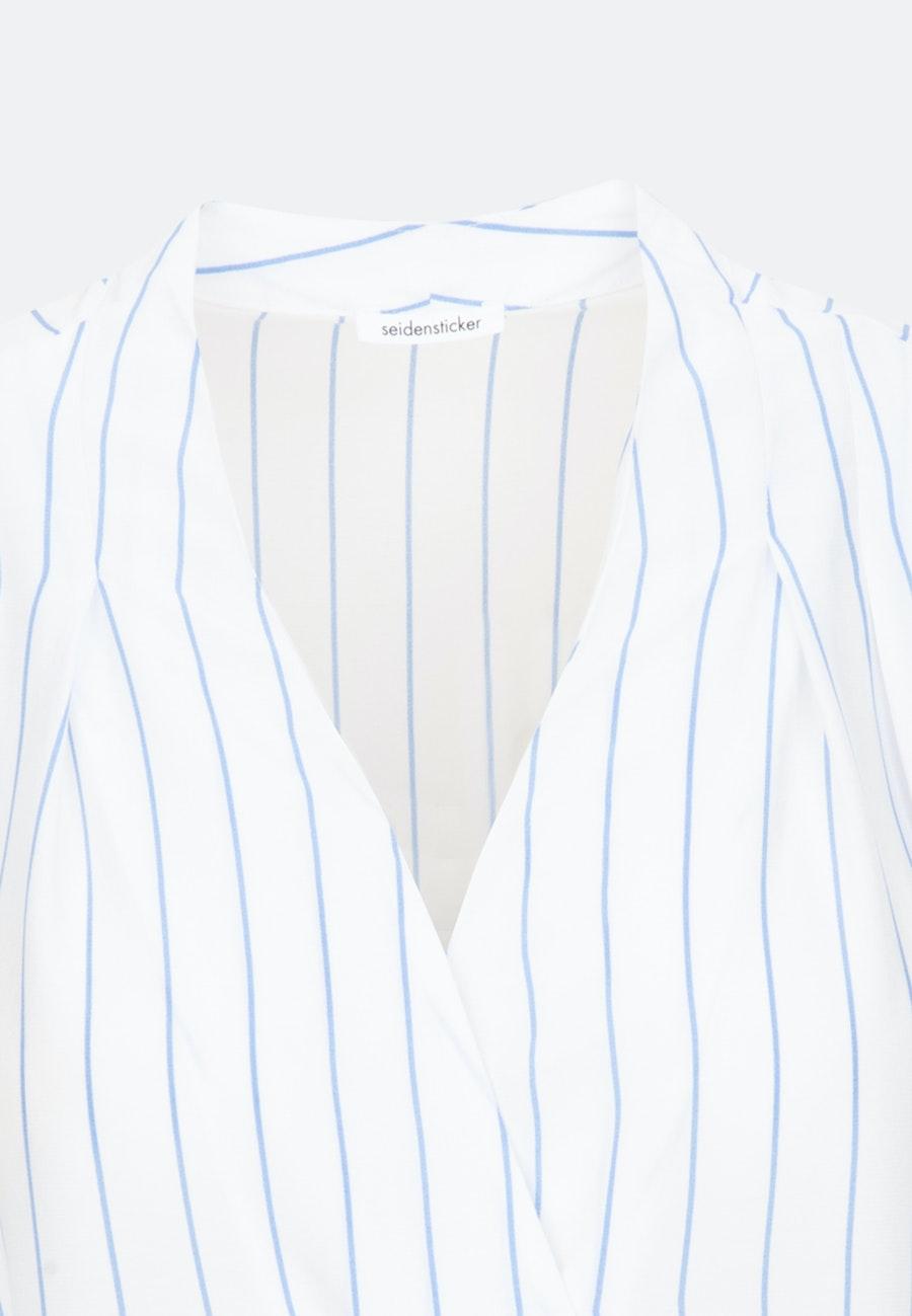 Crepe Wraparound Blouse made of 100% Viscose in Light blue |  Seidensticker Onlineshop